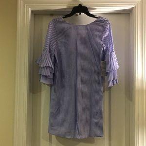 Zara shirt dress with ruffle bell sleeves